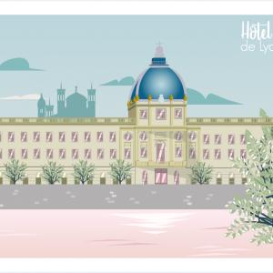 Affichette «Hôtel-Dieu»