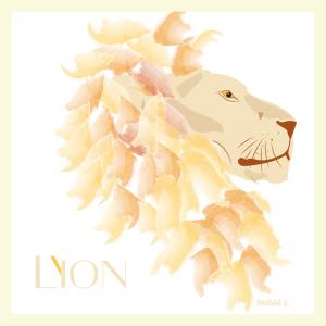 Affichette «Lion»