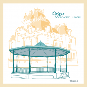 Affichette «Kiosque – Monplaisir»